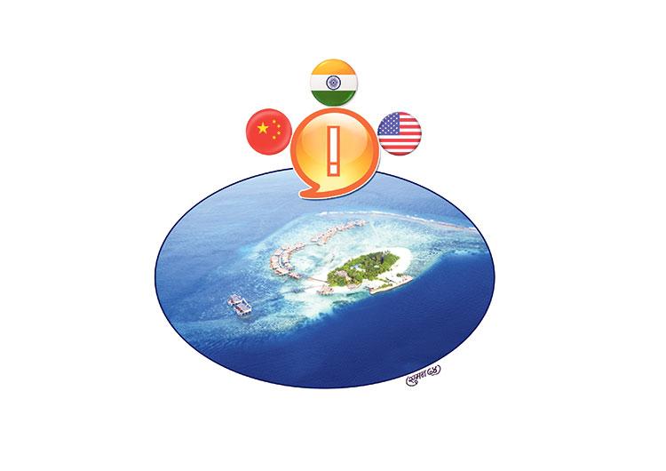 माल्दिभ्सको भारत, चीन र अमेरिका चुनौती